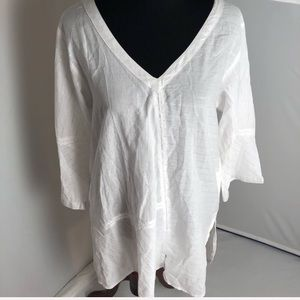 Peppermint Bay white tunic shirt/cover up